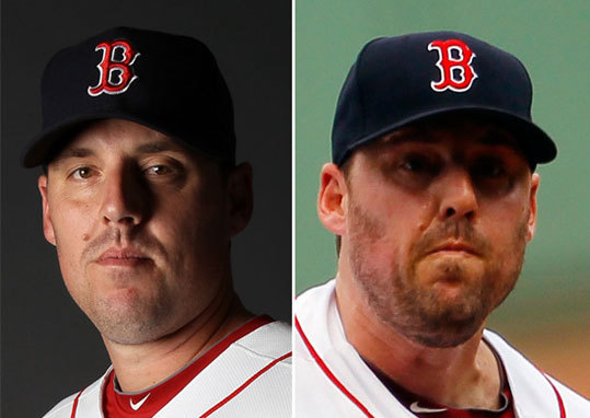 John Lackey Left: Feb. 20 Right: Sept. 14