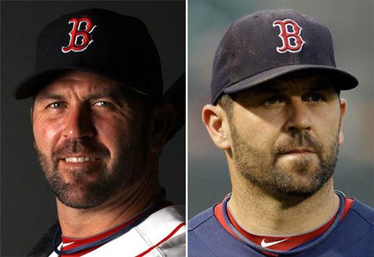 Jason Varitek Left: Feb. 20 Right: Sept. 27