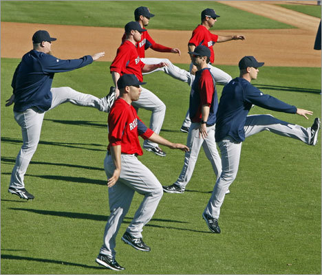 During the Red Sox' September collapse and its aftermath, the conditioning of some players was called into question several times, first by a national baseball reporter and later during the departure of manager Terry Francona. Reports of pitchers drinking beer, eating fried chicken and playing video games in the clubhouse during game fueled the debate, which became public only months after several boasted in spring training of their fitness level. Take a look at side-by-side photos of some of the players in question and make your own judgment.