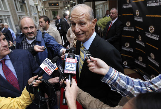 Team owner Jeremy Jacobs said prior to the event he did not know what the rings looked like. 'I purposely did not play a role in that,' Jacobs said. 'I know others, my son [Charlie] and Cam [Neely], they were deeply involved in this . . . I haven't been able to get much from them on this.'