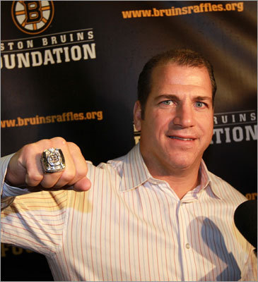 Mark Recchi retired after Game 7 of the Stanley Cup final, but returned to Boston for the ring ceremony. 'I knew this was going to be nice,' Recchi said. 'But what the Jacobs family did was absolutely amazing. It kind of blew me away. The thought that went into this and the little details is amazing.'