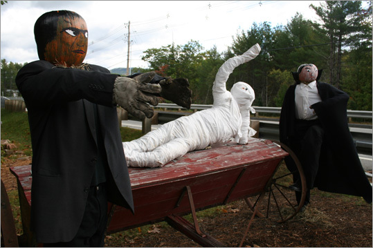 Frankenstein, Dracula, and the Mummy were a fright at the Covered Bridge House.