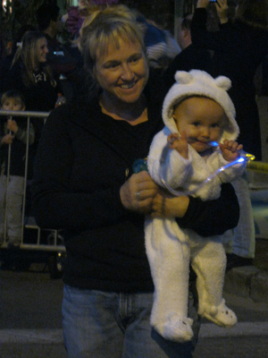 The 30th annual Haunted Happenings month of Halloween events officially kicked off Thursday night with the 16th Annual Salem Chamber Haunted Happenings Grand Parade. At left, Kayla Kirkpatrick and Lilyana Freitas of Salem watch the parade.