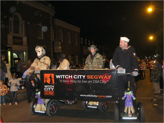 Jeff Langone of Witch City Segway rolls along in last night's parade