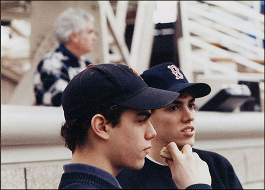 Early years Theo (left) and his twin brother, Paul Epstein, were baseball fans even in their earlier years. The Epstein who would become the Sox general manager graduated from Brookline High School in 1991 and graduated from Yale with a degree in American Studies in 1995.