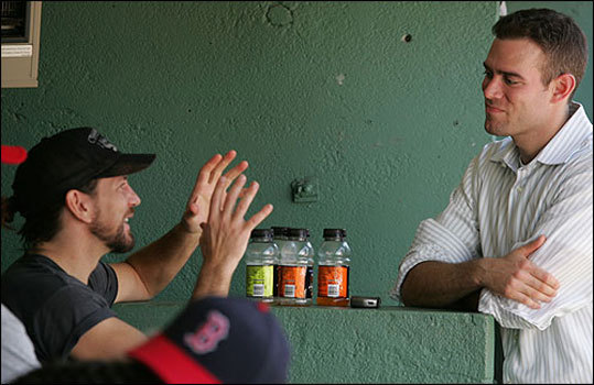 Pearl Jam fan Epstein had an unusual dugout chat with the lead singer of Pearl Jam, Eddie Vedder, in May 2006.