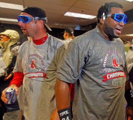 Diamond in the rough Epstein signed David Ortiz for $1.25 million in January 2003 and the move paid dividends. Ortiz shocked Red Sox Nation in 2003 with 31 homers 101 RBIs in 128 games, but he was just getting started. While Epstein re-signed him three times from 2004 to 2007, Ortiz slugged more than 35 home runs and drove in at least 117 runs each season. More importantly, he was a key cog on both the 2004 and 2007 (pictured) World Series teams.