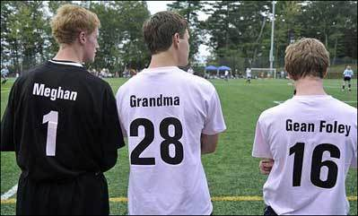 Soccer players score in fight against cancer