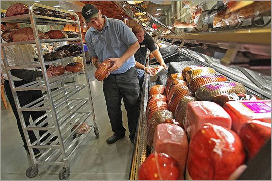 For meat lovers there are numerous options at the kosher deli, the Charcuterie counter, and the rotisserie section.