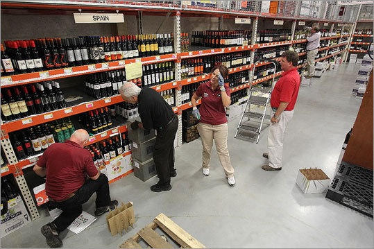 The store's wine and beer section is 15,000 square feet and featured more than 600 beers and 2,500 wines.
