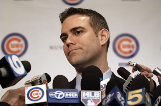 Theo Epstein left his post as Red Sox general manager after nine years in October of 2011 to become the Cubs' team president, agreeing to a five-year, $20 million deal, according to reports. Epstein guided the Red Sox to two World Series titles, and his tenure is one of the most successful in team history. Take a look back at Epstein's career to date.