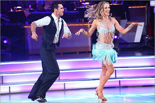 Chynna Phillips and her partner Tony Dovolani were eliminated from the celebrity dance competition series, 'Dancing with the Stars.'