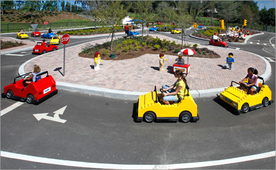 Children took part in a driving and road safety course in Lego cars.
