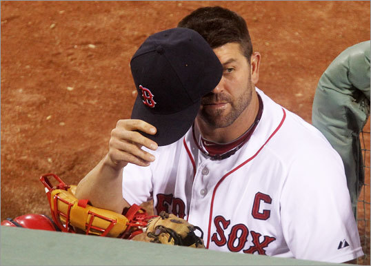 Jason Varitek Jason Varitek deflected blame for the Red Sox' collapse in an interview with the Globe's Peter Abraham on Oct. 18. 'It's embarrassing to be a part of, that we didn't end up making the playoffs,' said Varitek while sitting on the deck of his home. 'But all the other stuff that's out there is crap. In my opinion, nobody wants to see the truth. The truth is we have to take responsibility as players for how we performed, and that can go in many different directions.'