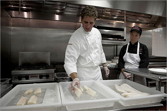 Bertucci's chefs spent several weeks finding new suppliers for cod and trying out different samples of the fish.