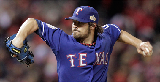 C.J. Wilson, LHP Tonight's starter for the Rangers will be a free agent no matter how the World Series ends. C.J. Wilson, a lefthander who had a career year in 2011 with a 2.94 ERA, 223.1 innings pitched and 206 strikeouts, could be the top starting pitcher available. Wilson earned $7 million on a one-year deal in 2011, although a poor postseason performance (0-3, 7.17 ERA so far) likely cost him some market value.