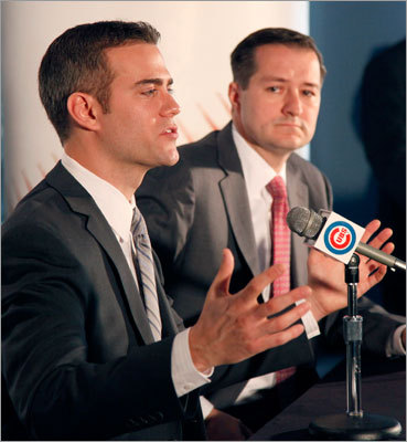'I was so lucky to spend a decade in the Red Sox organization, and I consider myself very, very lucky to be a Cub today,'' said Epstein during a press conference that commenced at noon and lasted approximately 50 minutes at Wrigley Field, where he was introduced as the franchise's president of baseball operations. 'I appreciate your faith in me, and I promise to repay you with the hard work and dedication you deserve.'