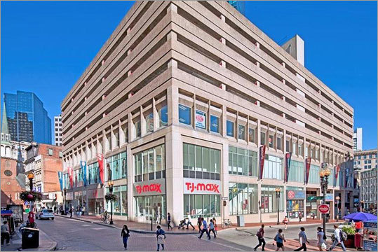 The Downtown Crossing building at 350 Washington St. was sold for $128 million in Oct. 2011. The building may be best known for such tenants as T.J. Maxx, Marshalls, H&M, and Town Sports International. Real Estate Capital Partners sold the building to Invesco Real Estate Advisors, said the broker involved in the transaction.