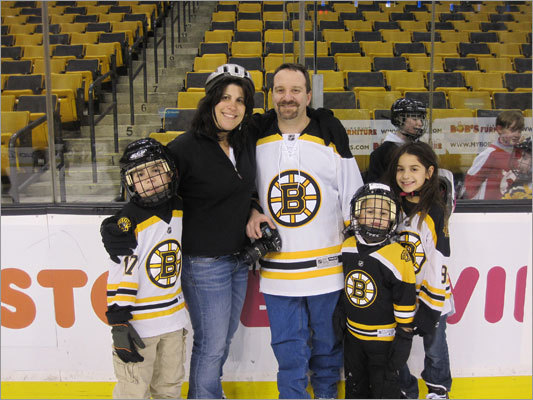 Hallmark Health Systems gives employees a chance to skate on Bruins home ice Imagine skating the ice at the Garden and hanging out with the Boston Bruins. Now imagine doing that because your company has a really great in with the team. At Hallmark Health Systems, that's one of the privileges that comes with being the health care provider for the team. The connection to the Bruins has meant great access to the team for employees at the health care organization. Read more Left: Neil Denbow and his family took part in the skate.