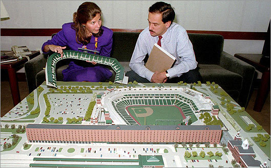 In 1988, Lucchino was named president of the Orioles. Two years later, he became owner. Lucchino won one World Series in Baltimore, but arguably his biggest accomplishment there was leading the process to build Camden Yards with architect Janet Marie Smith (pictured left).