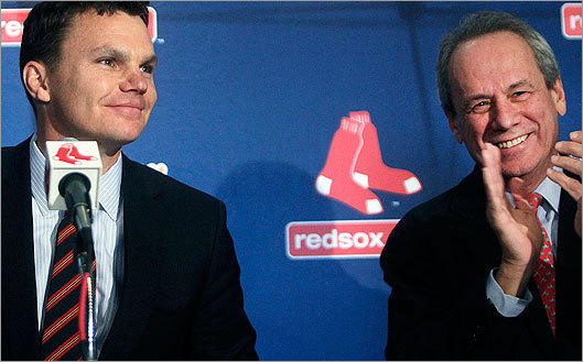 In October, Lucchino introduced Ben Cherington as Epstein's successor in the general manager's office