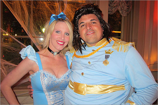 Lisa and Jeff Korte, of San Diego, Calif., dressed as Cinderella and Prince Charming.