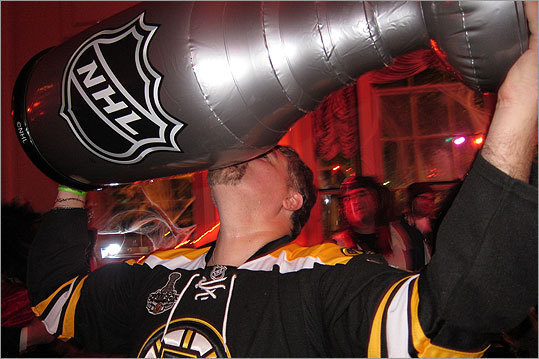 October 2011 Don Crandall of Portland, Maine hoisted the Stanley Cup at the Hawthorne Hotel's Witches Ball on Saturday night.
