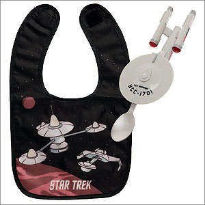 Star Trek Enterprise Light-Up Feeding System Price: $24.99 True Trekkies should be trained at an early age to love the Enterprise. This light-up seems like a logical start.