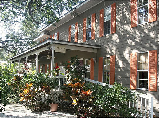 Sarasota is full of interesting hidden-away wrinkles like Towles Court, a historic cottage colony-turned-walking district of artists' studios, galleries, restaurants (shown), and now, a photographers' tea room, Garden Room Café.
