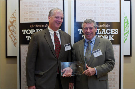 From left: Jim Fitzgerald and Paul Vercollone of VERC Enterprises, ranked No. 20 for small employers.