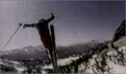 Vintage skiing commercials