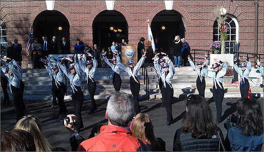 Dancers from Paulette's Dance Studio performed a patriotic routine to mark the occasion.