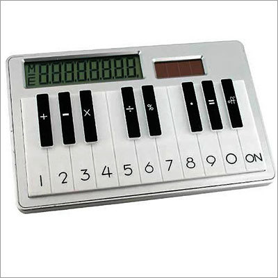 Solar-Powered Piano Calculator Price: $9.95 Who says musicians aren't good at math? This gift might just be what your music-loving accountant needs.