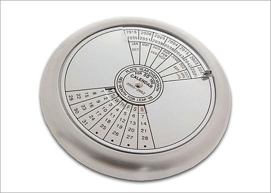 50 Year Calendar Price: $14.99 Does your friend need a better way to plan those meetings for never-ending projects? This 50-year timepiece might be the key.