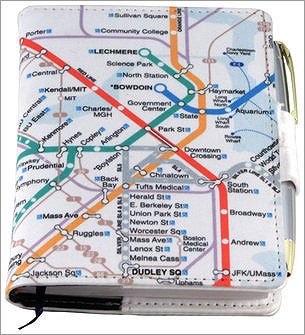 Memo Book: Maps & Logos Price: $14.96 We all need to take notes for work in meetings or wherever. This MBTA gift allow for a little personality along the way.