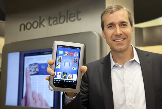 NOOK Tablet Price: $199 for 8GB Data plan: Does not access 3G. Does come with WiFi. Unlike Amazon, Barnes & Noble doesn't offer streaming services, but the Nook includes preloaded apps from Hulu and Netflix Inc. that allow users to subscribe to stream movies and TV shows. Shown: Barnes & Noble chief executive William Lynch holds the new NOOK Tablet.