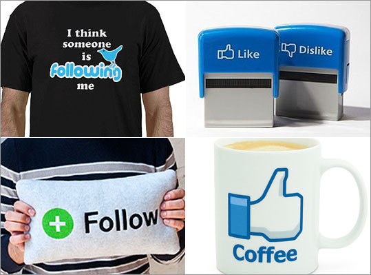 Those of us who are far too into social media don't want to just stop at liking, tweeting, and posting to show how much we love working online. No -- we need more. We need accessories to show off our love of social media. Here are some gift suggestions for the social media fanatics in your life.