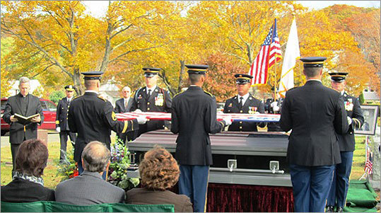 Mayor Milano, a World War II veteran, is buried with full military honors at Wyoming Cemetery.