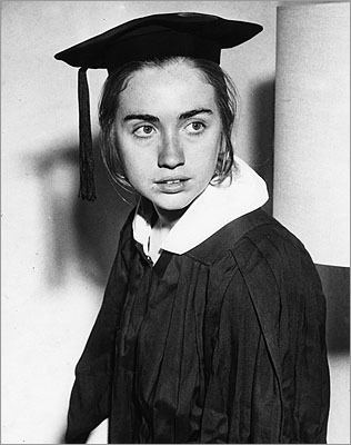 Hillary Clinton The former first lady and current secretary of state grew up in Chicago, but at Wellesley College she fed her dreams and ambitions, she said. Clinton said she helped abolish some old-fashioned rules at Wellesley, like how boys were only allowed to visit dorm rooms on Sunday afternoons and couples had to keep at least two of their four feet on the floor at all times. In her 1969 graduation commencement speech, Clinton said politics was about 'making what appears impossible, possible.'