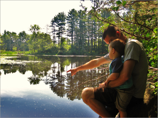 MassAudubon also awarded a prize for the best picture taken in a Mass Audubon Wildlife Sanctuary. In the 18-and-over category, Lauren Kreyling of Beverly took first with this snapshot of a father and son at the Ipswich River Wildlife Sanctuary in Topsfield.