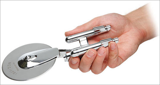 Star Trek Enterprise Pizza Cutter Price: $29.99 Cut into your pizza while pretending to save the world. What more would your friend want for the holidays?