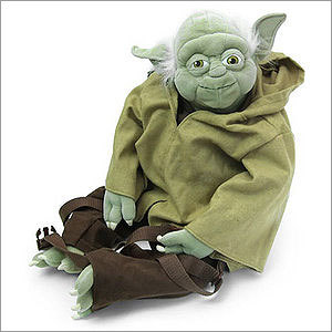Yoda Plush Backpack Price: $39.99 Yoda as your backpack. Awesome it is.