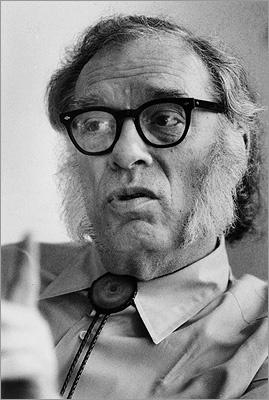 Isaac Asimov Asimov, real name Isaak Yudovich Ozimov, is known internationally as a prolific science fiction writer. But locally, he was known as a professor of biochemistry at Boston University. He also lived in New York, but while he was a tenured professor he called Newton home. Asimov, who died in 1992, coined the term 'robotics' and came up with the 'Three Laws of Robotics' in a story that was adapted for Hollywood in the movie 'I, Robot' that starred Will Smith.