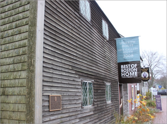 Although it has been restored over the years, the Richard Sparrow House is Plymouth's oldest home, built in in the years between 1636 and 1640. Today, it houses Sparrow House Pottery in the adjoining building.