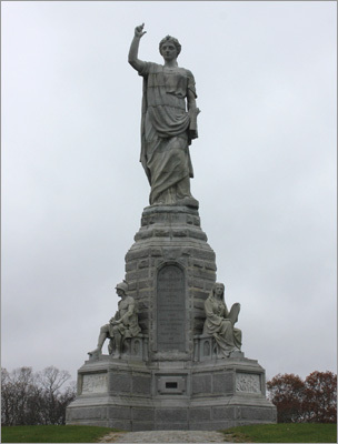 The towering Forefathers Monument, at 81 feet, is the largest granite monument in the United States, and though the Statue of Liberty predates its 1889 completion, the Plymouth monument served as the original prototype for the Ellis Island structure. The figures below the main figure depict different aspects of the Pilgrims - such as education, youth, and liberty - as well as the heritage that they left for the country.