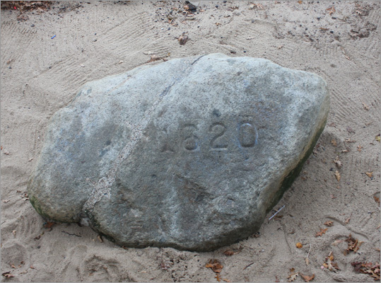 On the cusp of the American Revolution, Plymouth Rock was actually split in half, as a sign of division from the British Empire. More than 100 years later (1880), the sides were re-attached, the year '1620' was carved into it, and the rock moved to its present location on the Plymouth waterfront, where it is housed beneath a cathedral-like canopy. Visitors can peer into the canopy from Water Street and view it at water level below.
