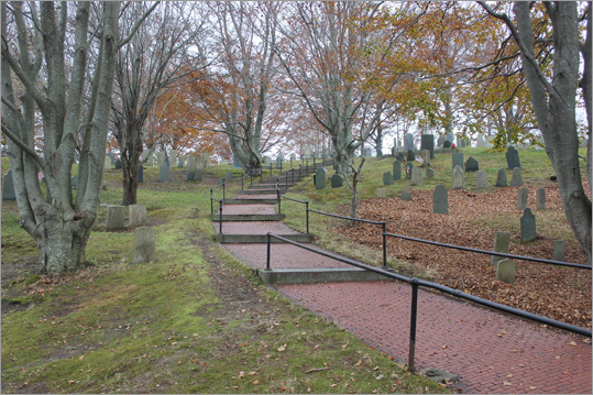 Adjacent to the church is Burial Hill, the oldest European burial ground in New England. The earliest gravestones on the hill date back to the late 1680s, although some have suggested that some Mayflower passengers were also laid to rest here.