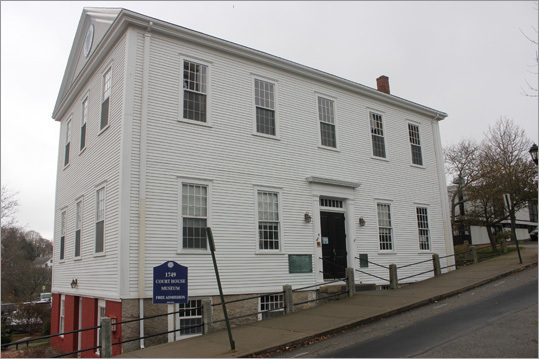The 1749 Court House, open seasonally, is the oldest wooden court house in America. Now on the National Register of Historic Places, the interior features a 1828 fire engine, as well as panels featuring the history of the town.