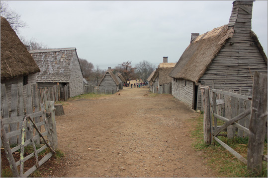 No one is quite sure what the original village looked like exactly, but the Plimoth Plantation version is based on ongoing research. It is about one-third the size of the original village.