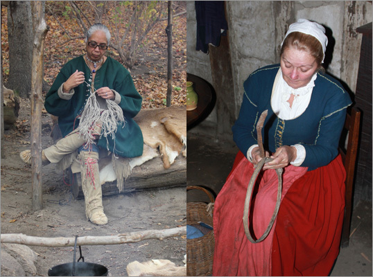 At Plimoth Plantation, visitors can take a trip into the past by experiencing a living museum that showcases the very distinct lives of two cultures forced to come together during the 1600s. The interaction between guests and the current day Wampanoag and people playing the part of the original English colonists, provides keen insight into life in Plymouth during the times of early colonial life, and uneasy, yet respectful, relationship that existed between the colonists and the native Wampanoag.